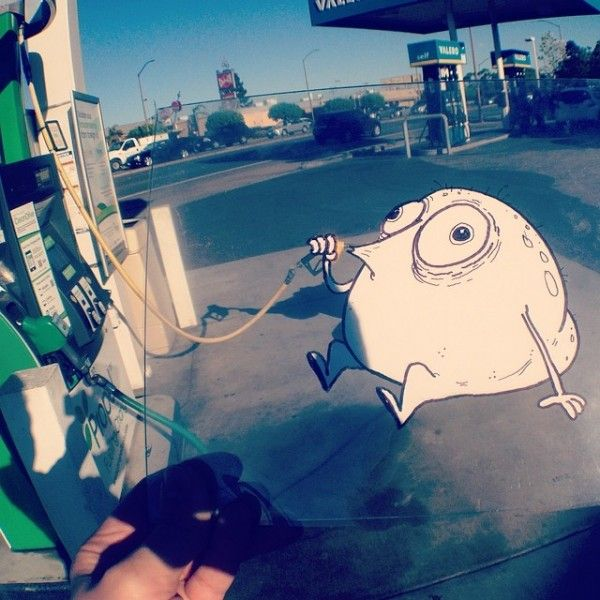 Funny and Creative Doodles Interact with Real World Scenes - My Modern Metropolis