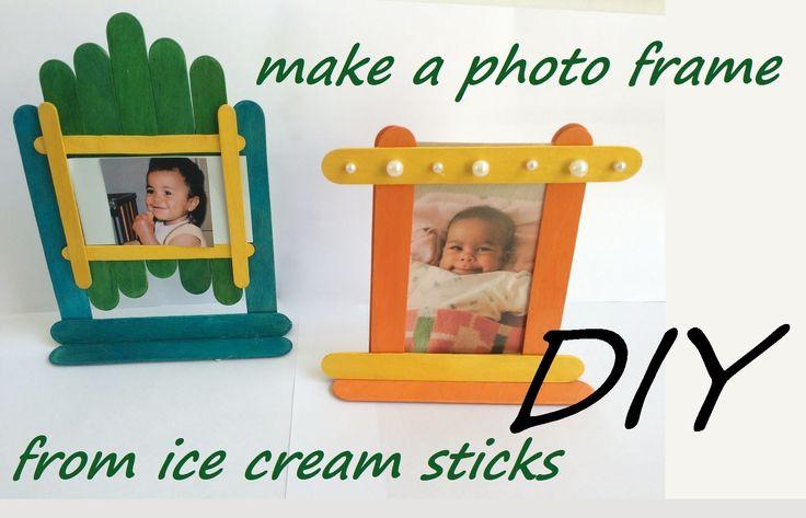 DIY: Photo frames (ice cream sticks. popsicle) fun craft activity for children