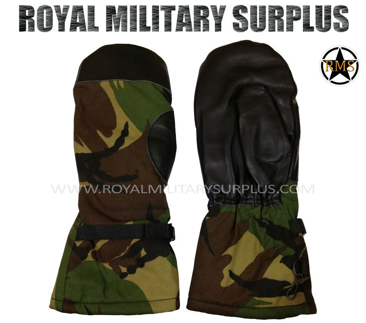 Mittens (Goretex) - UK/British Army Issue - DPM (Woodland) - 22.95$ (CAD) - DPM (Disruptive Camouflage Material - Woodland) British/UK Armed Forces Camouflage – 4 Colors UK/British Army Issue (Original) Made following Military Specifications 100% Goretex & Leather (Military Grade) Extreme Cold Weather Design Lightweight & Breathable One Size (Adjustable Wrist) BRAND NEW http://www.royalmilitarysurplus.com/main.sc