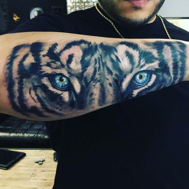 Best Tiger eyes arm tattoo sleeve forearm men amazing award winning  ideas blue eyes voted best