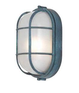 Barn Light Elctric Admidships Nautical Light Fixture - powder coat patina
