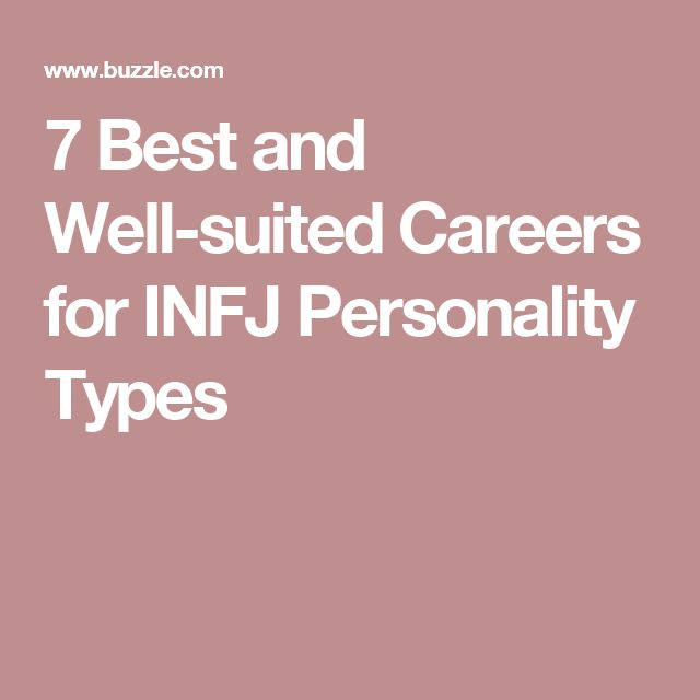 7 Best and Well-suited Careers for INFJ Personality Types