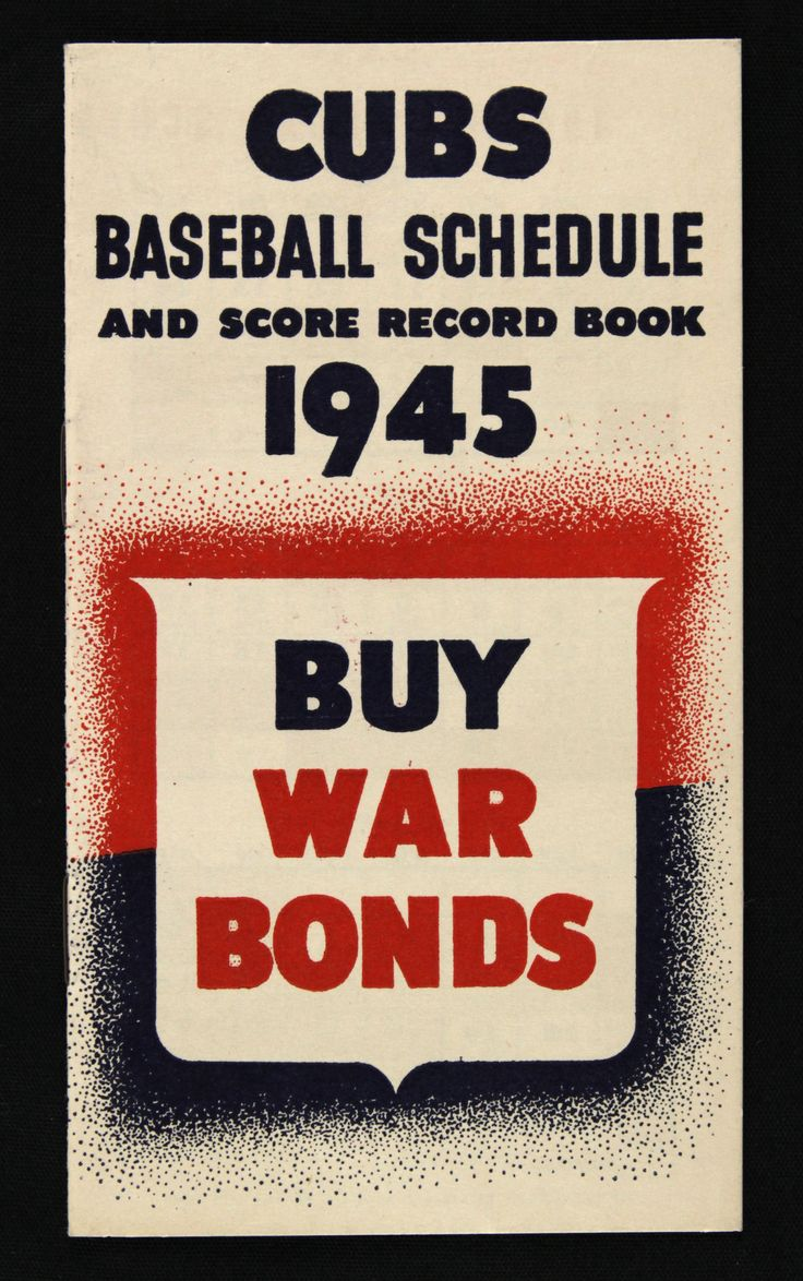 Lot Detail - 1945 Chicago Cubs Baseball Schedule Booklet
