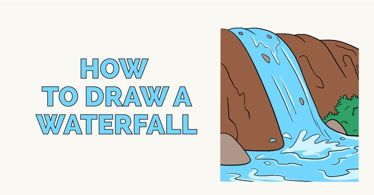 how to draw a waterfall for beginners on minecraft