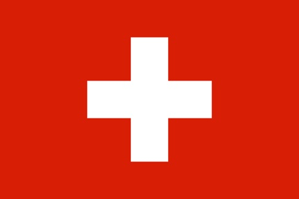 The characteristic white cross and the red background of Switzerland's flag was adopted in 1889.