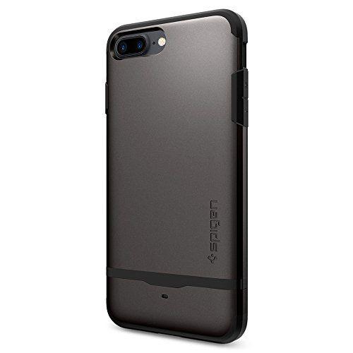 From 6.00:iPhone 7 Plus Case Spigen [Flip Armor] Card Holder [Gunmetal] Slim Fit Dual Layer Protective with Card Holder Case for iPhone 7 Plus - (043CS20776)