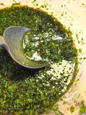 Salsa alla menta (per melanzane zucchine peperoni alla griglia e lessi)