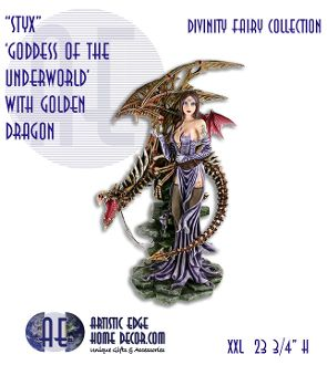 """Divinity Fairies Collection - """"Styx, Goddess of the Underworld"""" by Zemeno & Nemisis Now"""