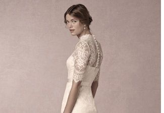 Embrace your inner English Rose in this lace dress from BHLDN.