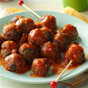 Tiny Taco Meatballs Recipe -These meatballs may be tiny, but they're big on taste. Taco seasoning adds a tasty twist to these appetizers that my grandson gobbles up! —Joyce Markham, Belmond, Iowa