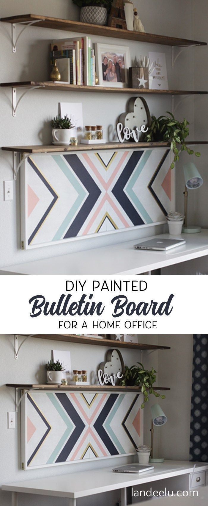 Amazingly Stylish DIY Cork Board You Will Want to Make - Pretty and Easy Home Office or Teen Bedroom Organizer and Decor piece you'll love! http://landeelu.com