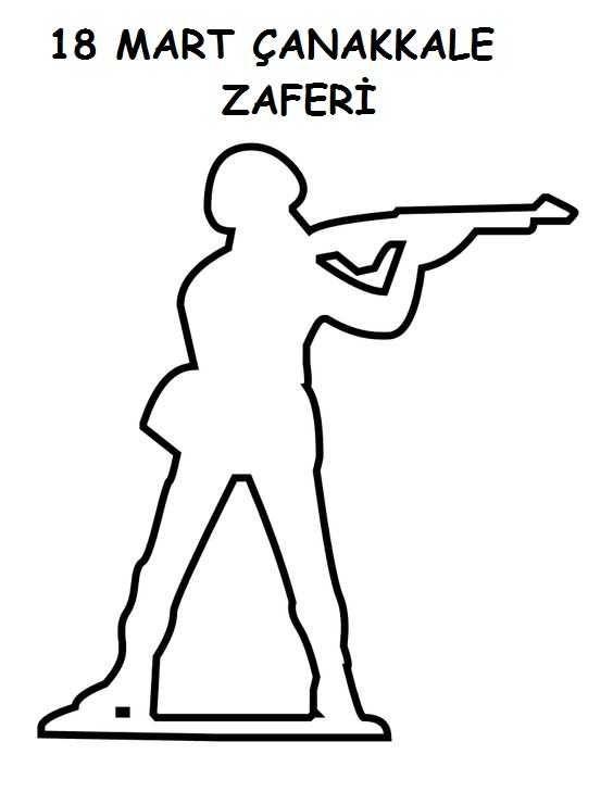 Okul Ncesi 18 Mart Anakkale Zaferi Boyama Sayfalar 10 Kasim