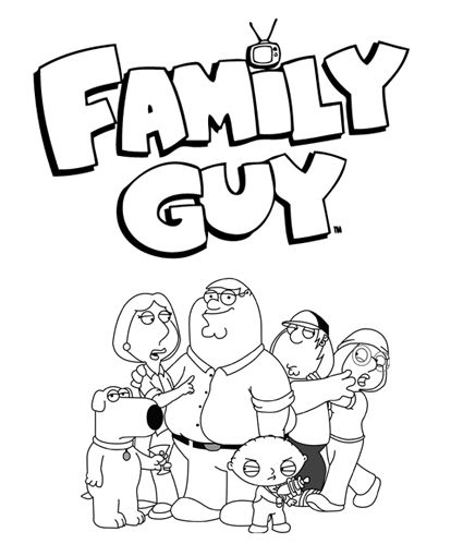family guy coloring pages - photo#25