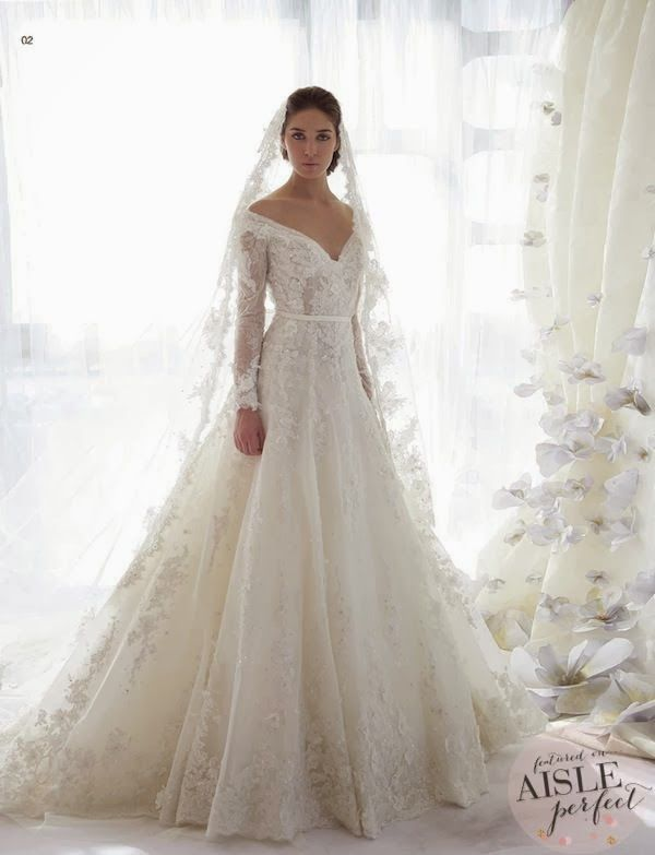 20 Pretty Perfect Long Sleeve Wedding Gowns - Aisle Perfect