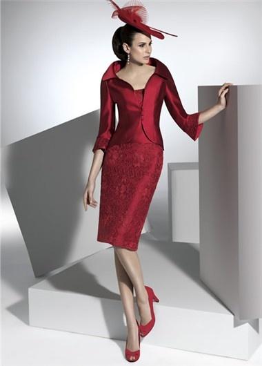 Vestido de madrina rojo de Franc Sarabia