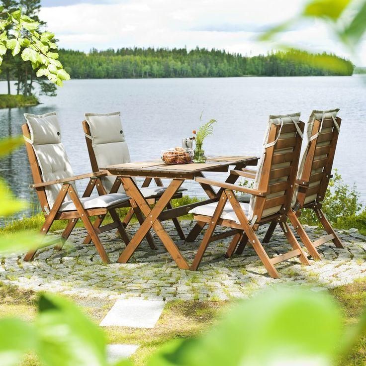 Trädgårdsmöbel Hillerstorp Matgrupp Freja Bord + 4 Stolar - Grupper