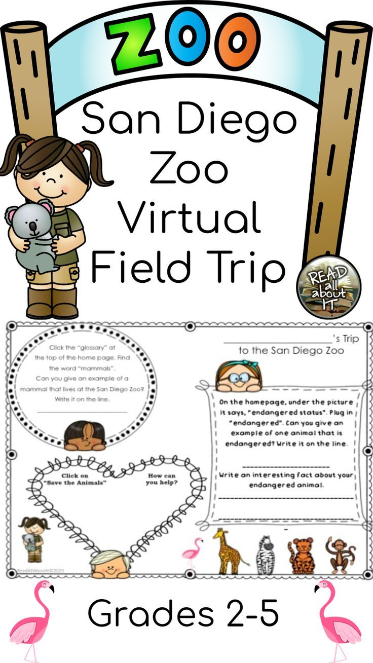 Virtual Field Trip To The San Diego Zoo For Grades 2 5 Field Trip Virtual Field Trips San Diego Zoo