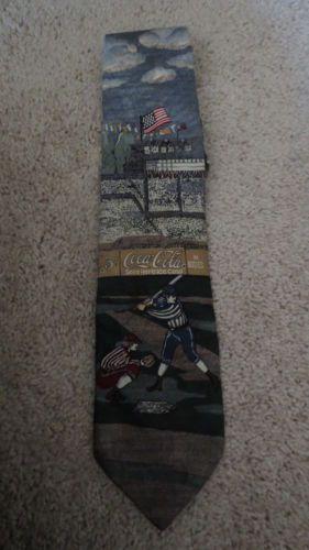 Coca-Cola-Atlanta-Baseball-Mens-Neck-Tie