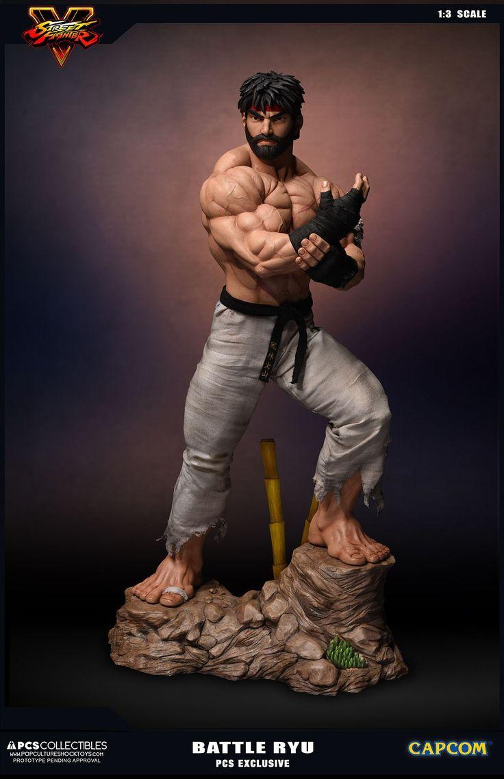A Pop Culture Shock Toys vai lançar uma nova estátua do Ryu, que chama a atenção por ser a versão alternativa com barba e sem camisa que estreou recentemente na pré-venda do Street Fighter V, que é conhecido por muitos fãs como Hot Ryu.
