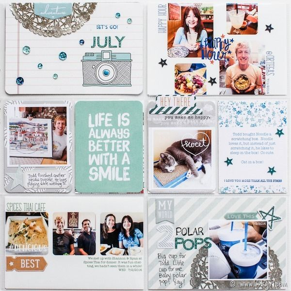2014 Project Life | July Part 4 @ listgirl.com