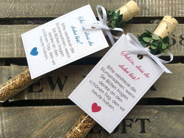 Gastgeschenk Hochzeit Blumensamen Gastgeschenk Reagenzglas Dieses