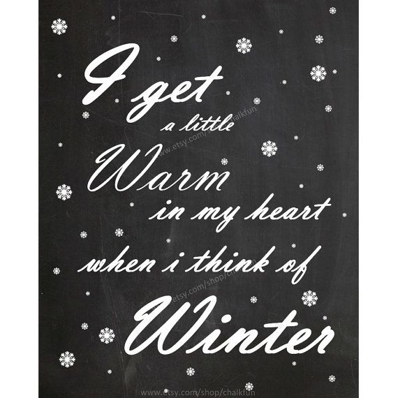 Winter Quote Chalkboard