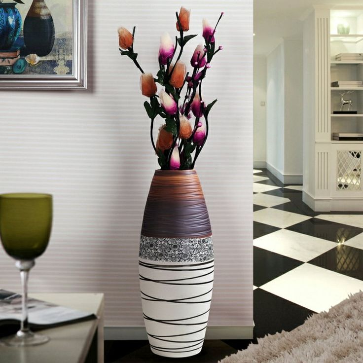 les 25 meilleures id es de la cat gorie grands vases en. Black Bedroom Furniture Sets. Home Design Ideas