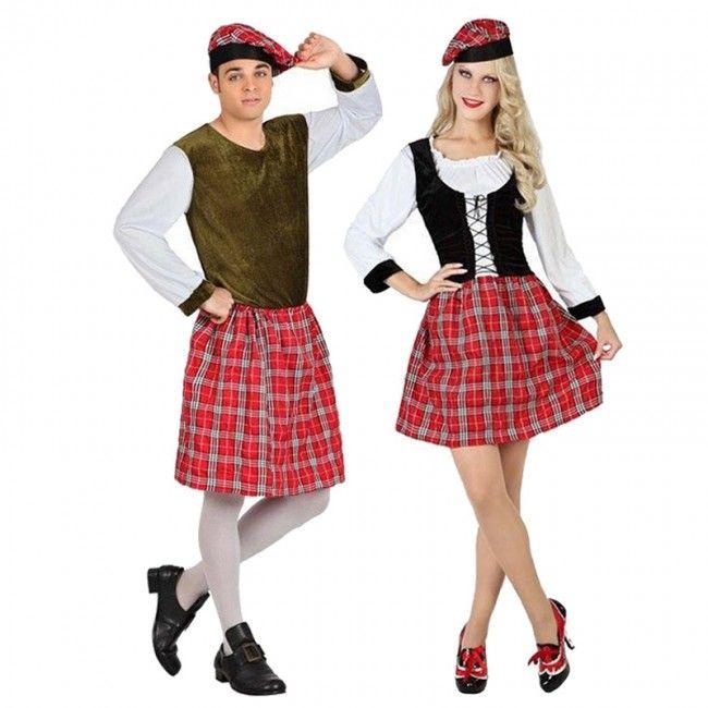 Pareja Escoceses Kilt #parejas #disfraces #carnaval #novedades2016