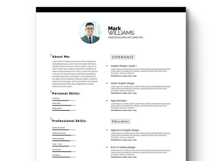 Более 25 лучших идей на тему «Free printable resume» на Pinterest - free printable resume template