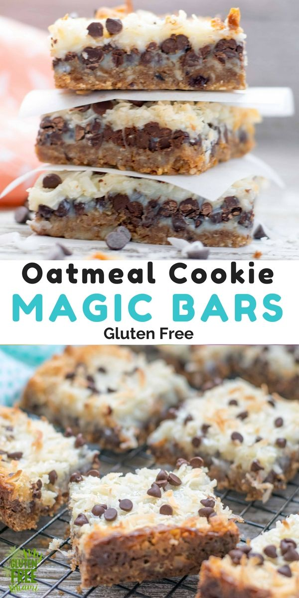 Oatmeal Cookie Gluten Free Magic Bars Recipe Gluten Free