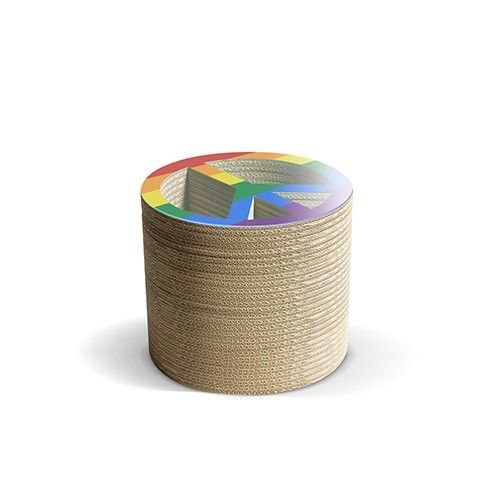 PACE F - Carton Factory Designer: Carton Factory Misure: 46 X 46 X 40h  Tavolo basso in cartone con piano superiore in vetro.   #cartonfactory #ecodesign #cardboard #design #tavolo #cartone