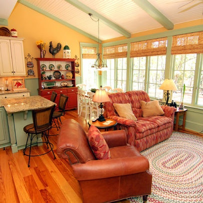 Traditional Living Room Country Cottage Design Ideas