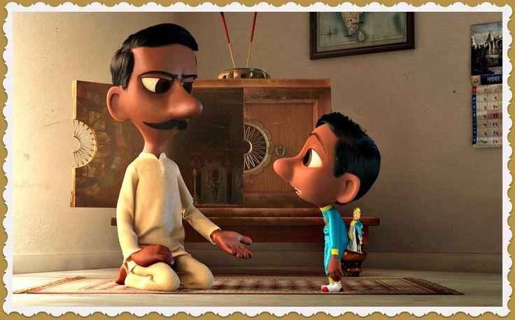 """""""SANJAY'S SUPER TEAM"""" VALORES: TRADICIONES CULTURALES. https://vimeo.com/album/2298055/video/165239546 Un pequeño niño hindú hijo de inmigrantes hindúes en el mundo occidental se debate entre el amor a los superhéroes y las tradiciones religiosas de su padre, que incluyen la meditación y oración diaria."""