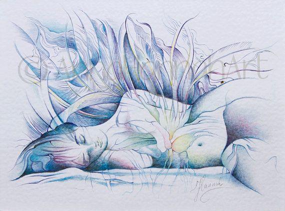 """Sleep & Dream"" drawing by Anna Miarczynska"
