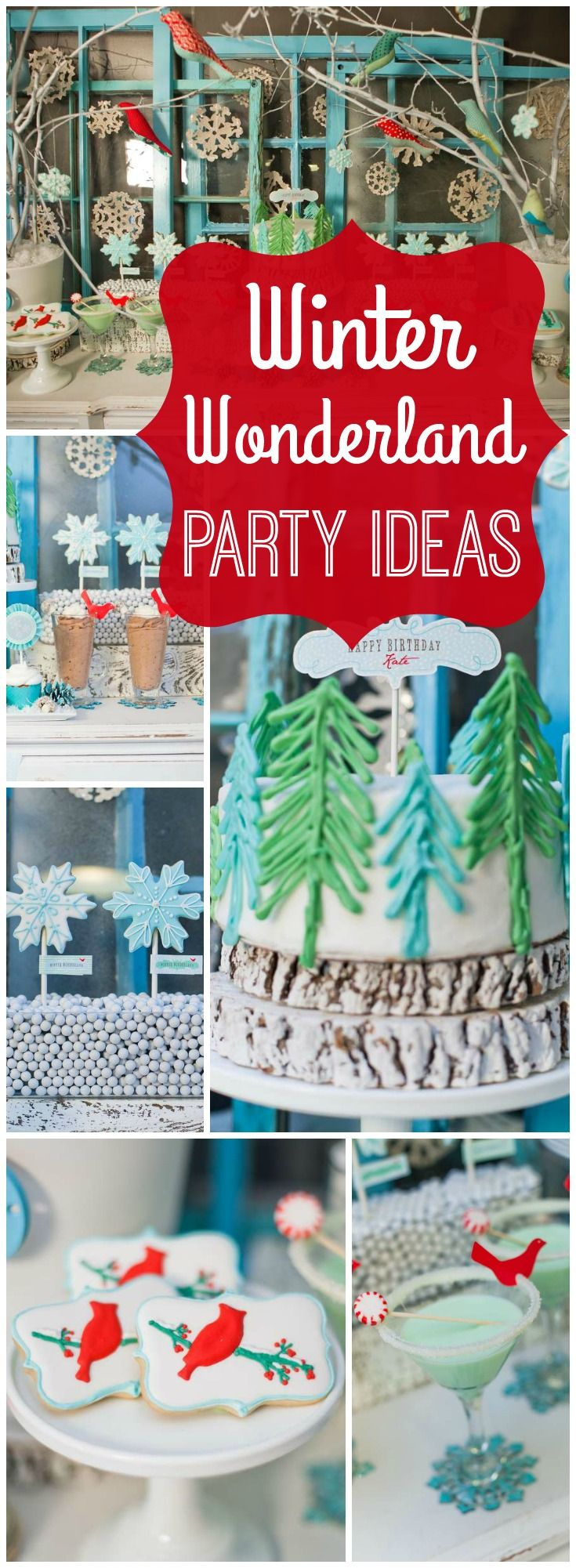 You must see this rustic winter wonderland birthday party! See more party ideas at CatchMyParty.com!