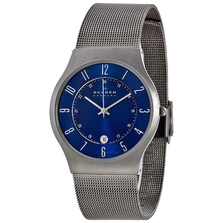 Skagen Titanium Steel Mesh Men's Watch 233XLTTN - Titanium - Skagen - Watches - Jomashop $85