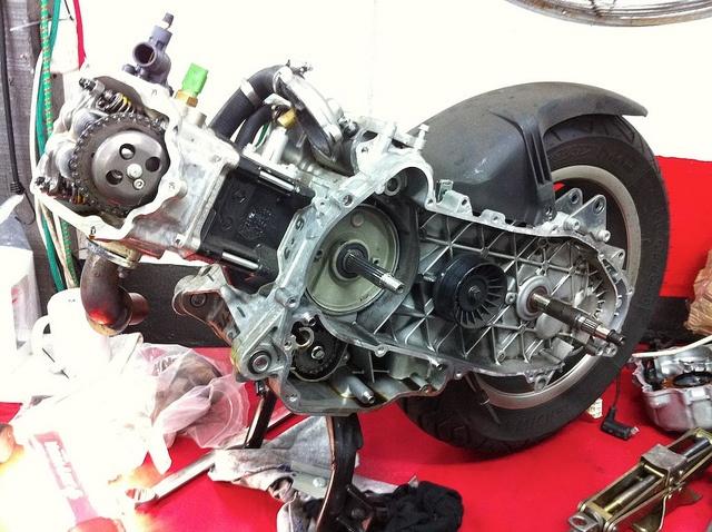 Vespa GTS300 Super Sport dismantled :( by shockdude, via Flickr