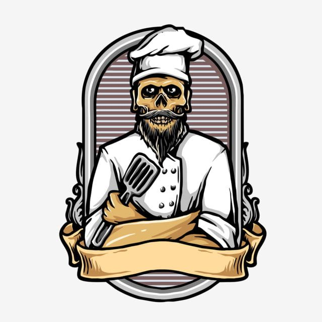 Vector De Calavera Con Restaurante Uniforme De Chef O Logotipo Culinario Craneo Grafico Retro Png Y Psd Para Descargar Gratis Pngtree Dibujos Animados Personajes Cocinero Animado Logotipos