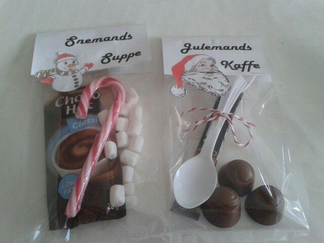 Snemands suppe og julemands kaffe -til pakkespil eller værtinde gave.