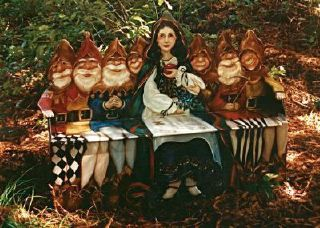 Snow White and the 7 Dwarfs toy box/bench © Pamela Silin-Palmer 1993