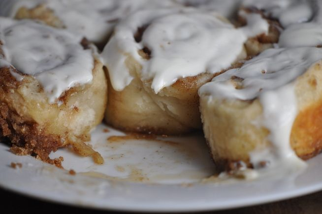 Top-Secret Cinnamon Rolls...here is the best part--no yeast! hooray and hooray. I don't do yeast...too complicated so this is my kind of recipe...gooey and yummy:)