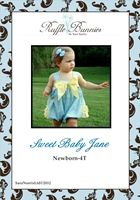Sweet Baby Jane sunsuit pattern epattern-sunsuit pattern, romper pattern, Sara Norris Ltd, ruffles