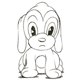 How to Draw a Cartoon Puppy Dog (Dunway Enterprises) http://dunway.biz/pencil_drawing/index.html