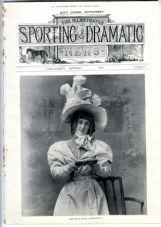 1899 ILLUSTRATED SPORTING & DRAMATIC NEWS Antique Magazine ROSARIO GUERRERO Theatre MARY MOORE Sport BISLEY (9431)