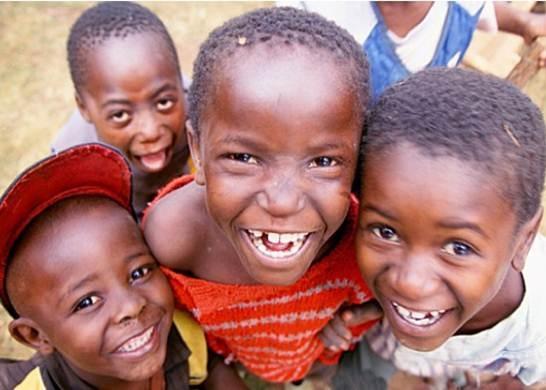 happy kids in Africa