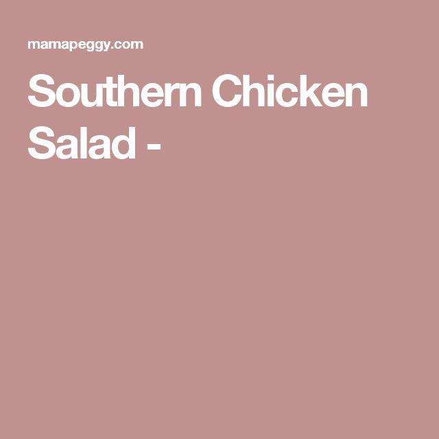 Southern Chicken Salad -