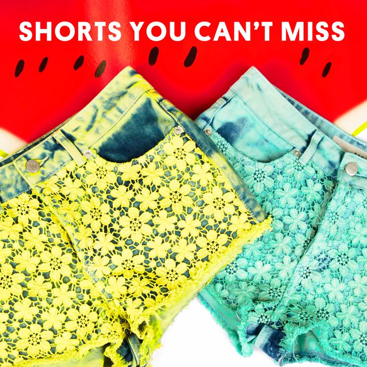 Lace, flowers, dip-dye or a little giraffe - we have everything a shorts-lover could wish for.