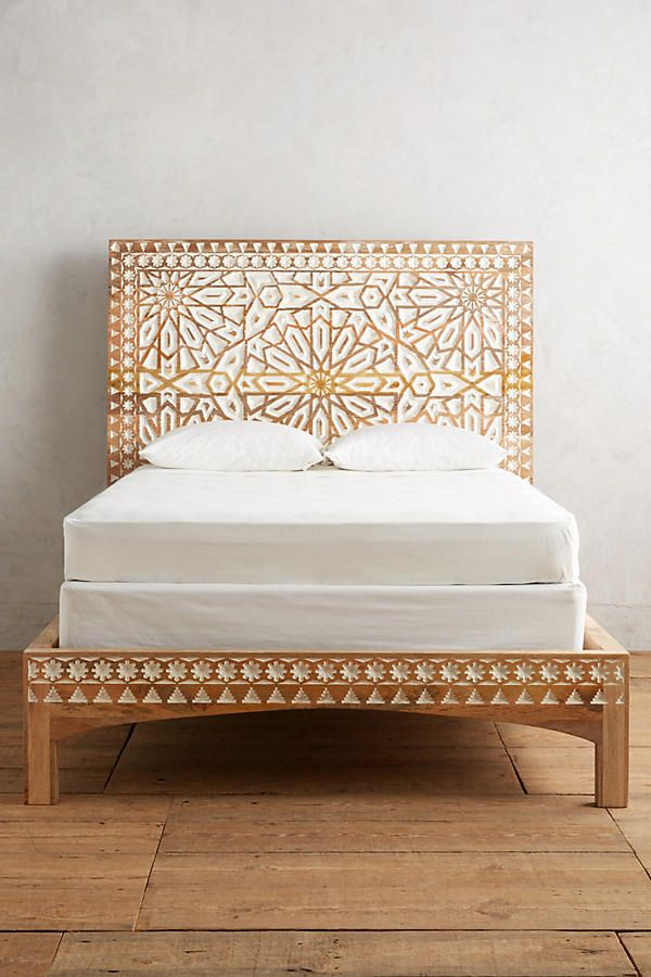 brilliant wooden boho bed frame furniture
