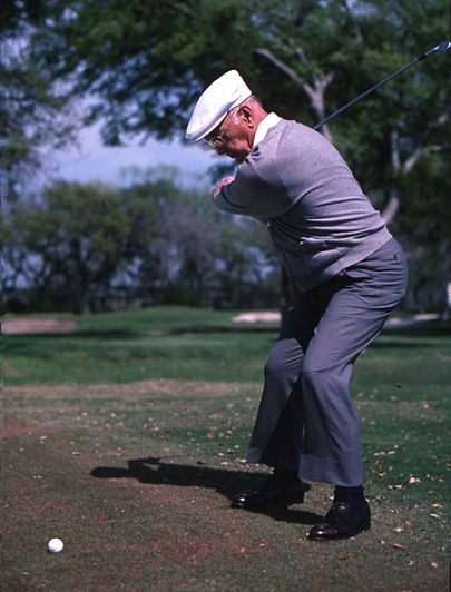 "Ben Hogan - Think Swing Plane Instead of Swing Arc (June 1985).  In a rare interview with an older Hogan, the golf legend demonstrates his swing and firmly states the advice he gives in his book ""Five Lessons"", have held up over time. ""I would write it the same way I did in 1957. Everything I know about the full swing is in here. I don't think the fundamentals will ever change"" One lesson he revisits in particular is....#gameinglove Game-inglove www.game-inglove.com"