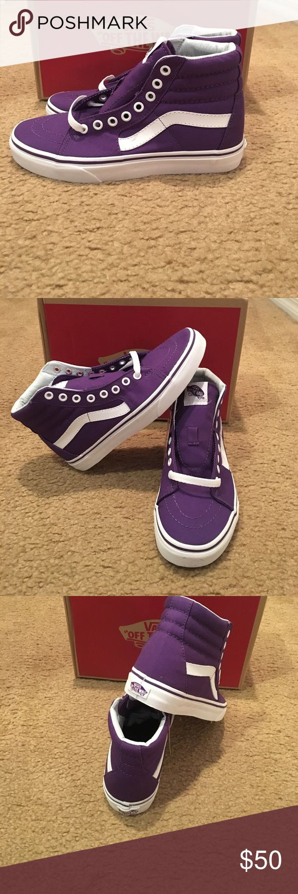 Vans Sk8-Hi Canvas Imperial Palace Sneakers New in box. Purple/white Vans Shoes Sneakers